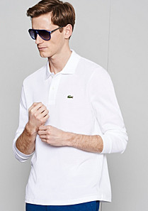 Lacoste Plain L.12.12 Original polo with long sleeves Men