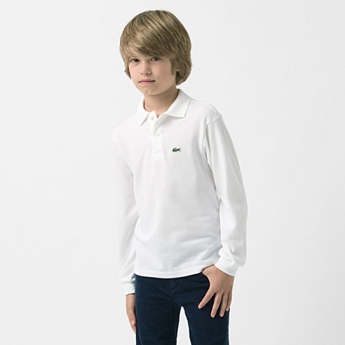 Classic fit plain long sleeved polo