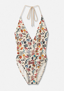 Lacoste Printed swimsuit Women