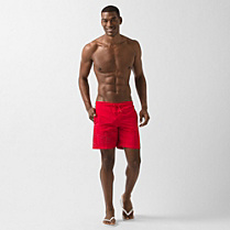 Lacoste Printed swim shorts Men
