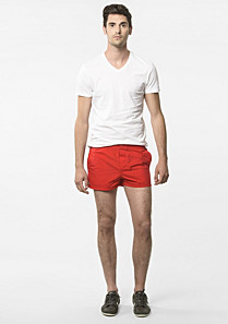Lacoste Plain swim shorts with press stud Men