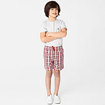 Lacoste Check swim shorts Boy