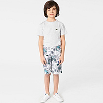 Lacoste Printed swimsuit with side pocket. Boy