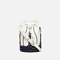 Lacoste Cathy Toile small cotton and leather handbag Women