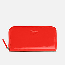 Lacoste Serena large vinyl zipped wallet Women