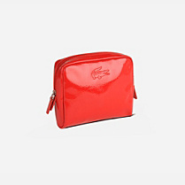 Lacoste Serena vinyl zipped make up pouch Women