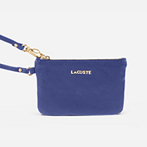 Lacoste Amelia leather zipped clutch bag. Women