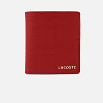 Lacoste Institutionnelle large leather card holder Women