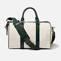 Lacoste 80th Anniversary Edition Boston bag in cotton and leather Women