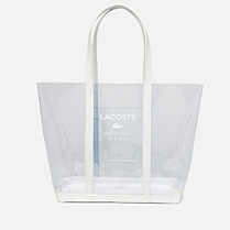 Lacoste Emma large transparent shopping bag Women