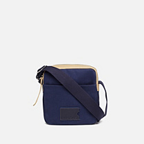 Lacoste John Toile cotton and leather satchel Men