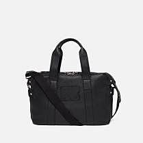 Lacoste John leather computer bag Men
