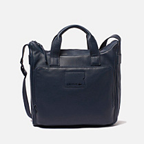 Lacoste Fashion Show Collection leather satchel. Men