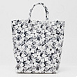 Fashion Show printed leather tote bag