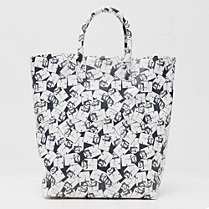 Lacoste Fashion Show printed leather tote bag Women