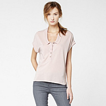 Lacoste polo top with silk Women