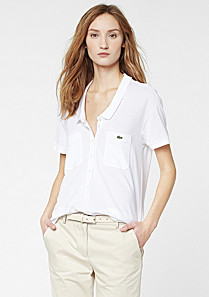 Lacoste polo top with pockets Women