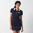 Piped Lacoste stretch Tennis polo
