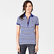 Striped Lacoste stretch polo