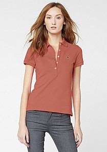 Plain stretch Lacoste polo Women