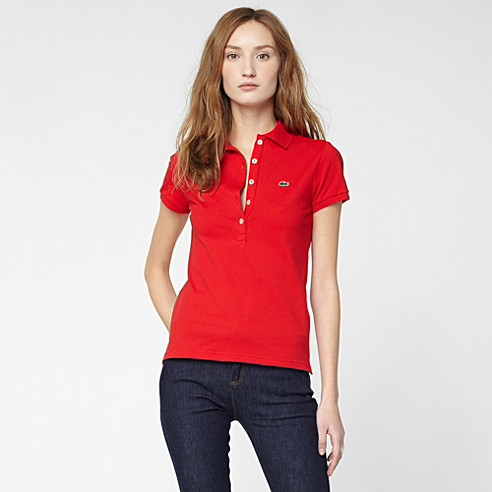 Plain stretch Lacoste polo
