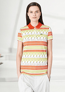 Lacoste Fashion Show patterned polo Women