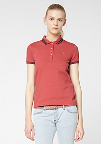 Lacoste Live ultra-slim fit polo with piping Women