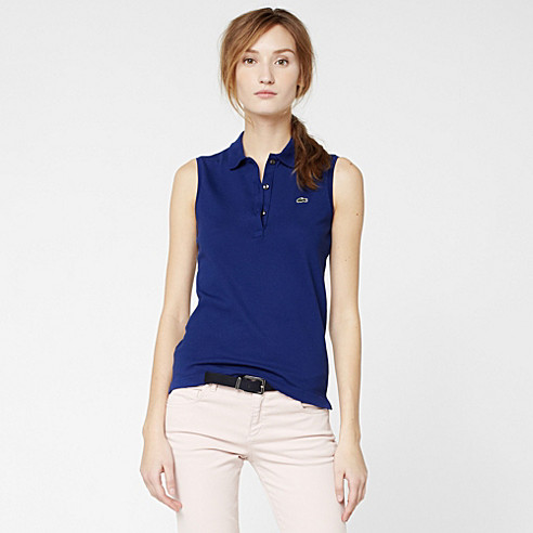 Sleeveless stretch Lacoste polo