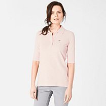 Lacoste polo top with elbow-length sleeves Women