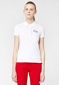 Lacoste Live Stretch polo with maxi crocodile Women