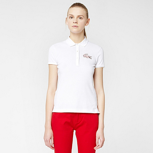 Lacoste Live Stretch polo with maxi crocodile
