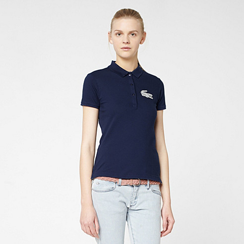 Lacoste Live stretch polo with crocodile