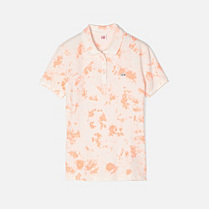 Printed Lacoste Live stretch polo Women