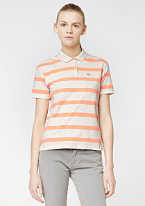 Striped Lacoste Live stretch polo Women
