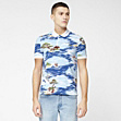 Printed Lacoste Live Ultraslim fit polo