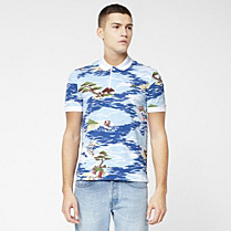 Printed Lacoste Live Ultraslim fit polo Men