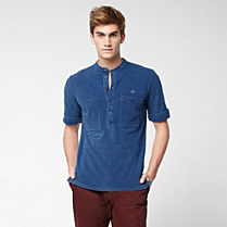 Regular fit Mao collar Lacoste polo Men