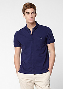 Slim fit Lacoste polo with pocket Men