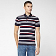 Striped Lacoste Live ultra-slim fit polo