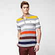 Regular fit Lacoste polo with multi-coloured stripes