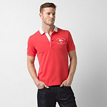 Regular fit contrasting collar Lacoste polo Men
