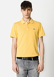 Slim fit plain Lacoste polo Men