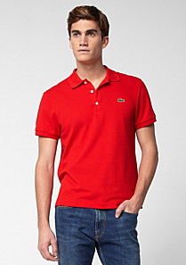 Plain Slim fit Lacoste polo Men