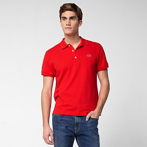 Plain Slim fit Lacoste polo