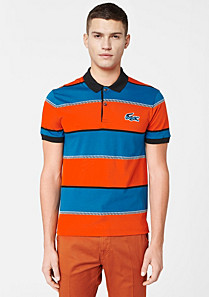 Striped Lacoste Live ultra-slim fit polo Men