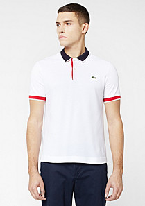 Lacoste Live Ultraslim fit polo with piping Men