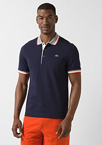 Piped Lacoste stretch polo Men