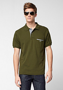 Regular fit Lacoste polo with pocket Men