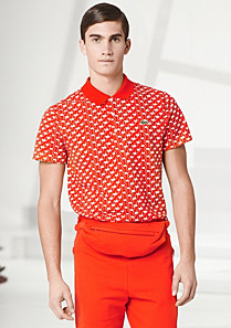 Fashion Show Regular fit patterned Lacoste polo Men
