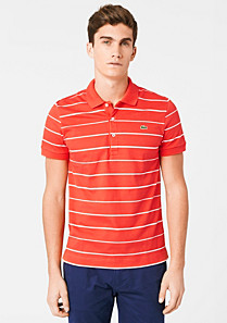 Striped Lacoste stretch polo Men